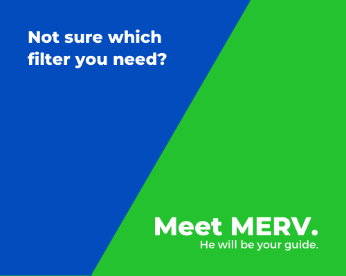 Meet Merv graphic with blue and green background